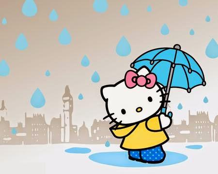 hello kitti pake payung