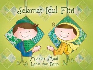 Keluarga mengucapkan Selamat Hari Raya Idul Fitri