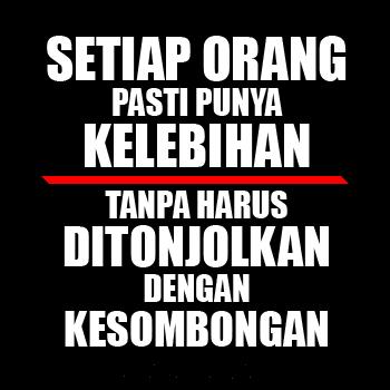 DP BBM Sindiran Halus untuk orang sombong