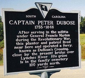 "Peter DuBose, my fifth-great-grandfather, was a captain in the South Carolina militia under the command of the ""Swamp Fox"" General Francis Marion. He was also the grandson of French immigrants to Carolina, Isaac Dubosc and Susanne Dubosc, née Couillandeau."