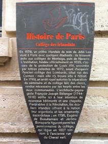 The City of Paris's historical marker