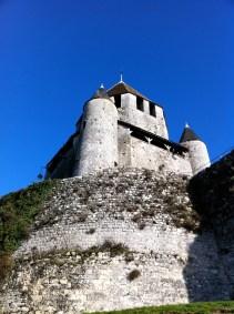 A final view of La Tour César against a stunning blue sky
