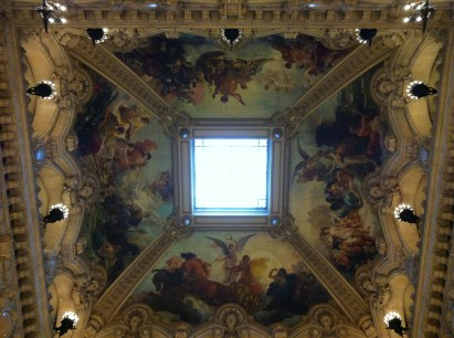 The skylight above the Grand Staircase, approximately 100 feet above the floor