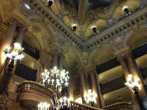 A view of the foyers on the upper levels of the Opera