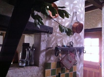 Our friends' rustic kitchen in the Burgundian countryside