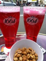 Two monacos (beer with grenadine)