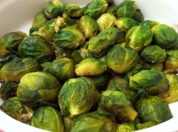 Brussels sprouts, sautéed in butter and then steamed