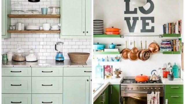 Usando métodos de categorização e mais separações é possível deixar a cozinha linda e organizada. Foto: Pinterest/Reprodução