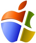 microsoft apple logo