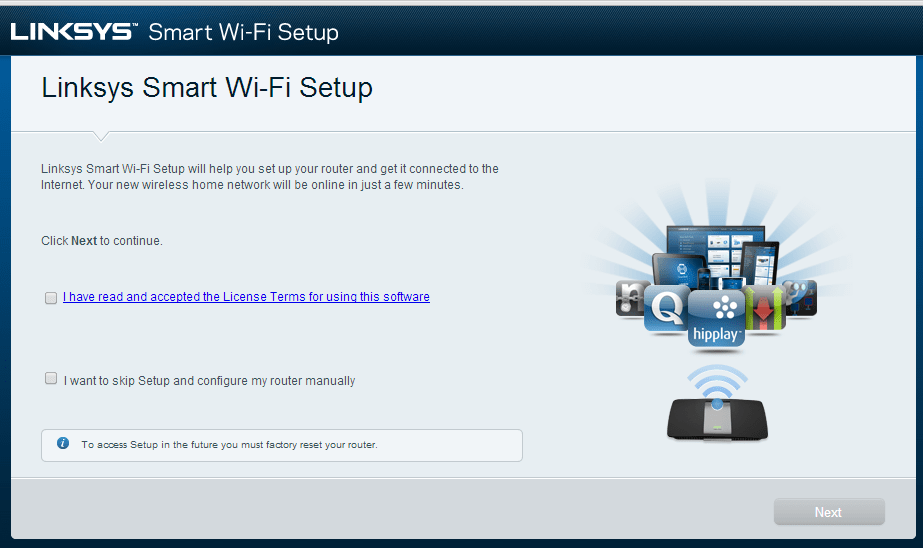 It Doesn't Matter What You Think: Setting up the Linksys