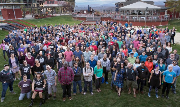 A photo of 400+ Automatticians at our last Grand Meetup. Most of these individuals work in all hands support at least once a year.