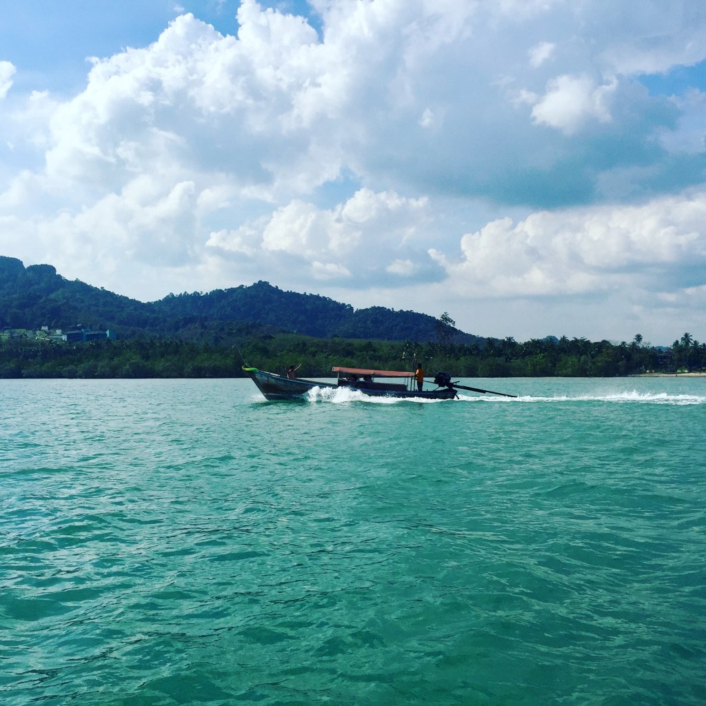 A photo of Ao Nang bay near Krabi, Thailand from our trip in January.