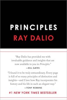 The cover of the book Principles by Ray Dalio
