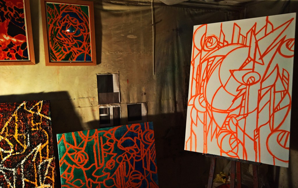 Studio de Jeremie Francblum artiste Peintre Paris