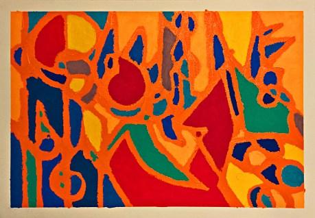 Peinture au pastel d huile sur papier d arches par jeremie franblum artiste peintre paris