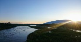 Above Rio Grande after take-off