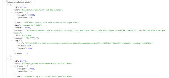 Related Posts in the REST API Post endpoint