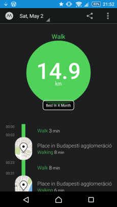 Walking a Lot!