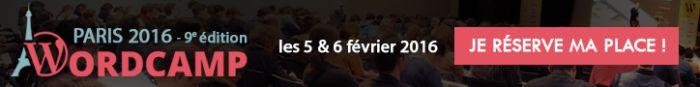 Réservez vos billets pour WordCamp Paris 2016