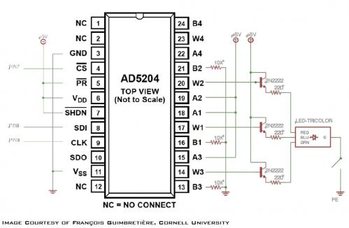 3D Puzzle LED Control Schematic