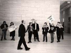 AGL protest B&W