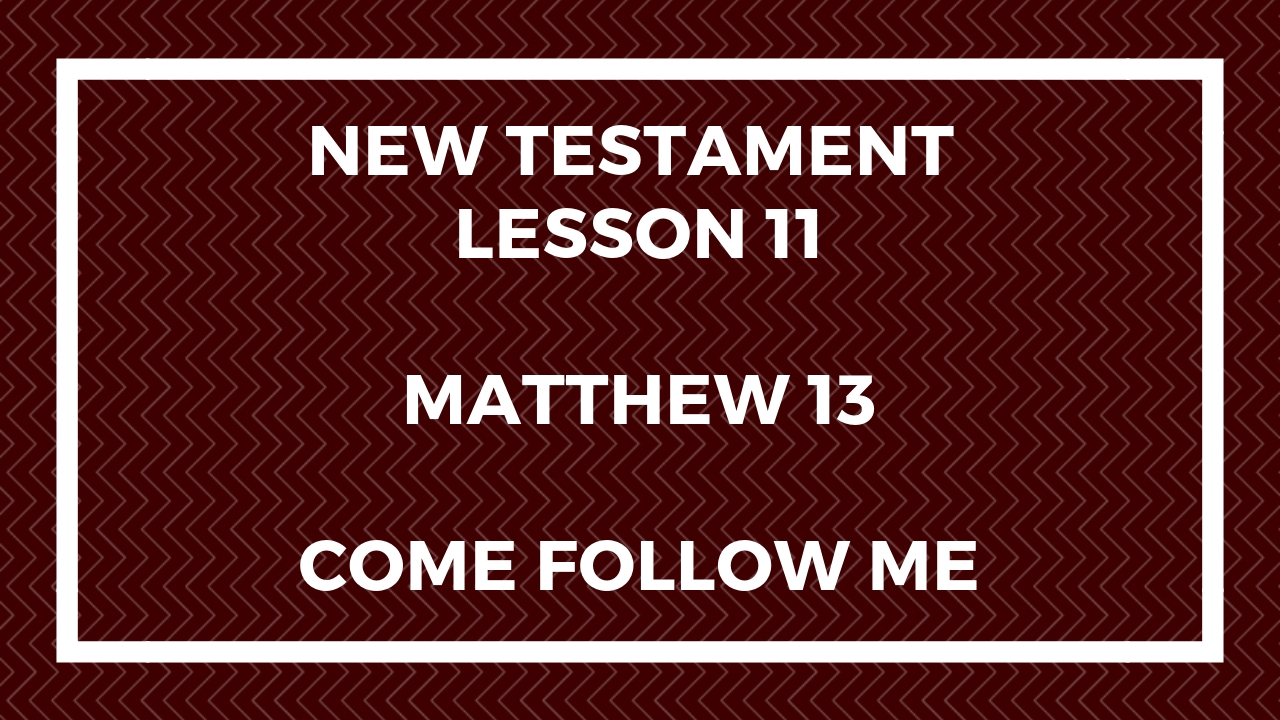 New Testament Lesson 11