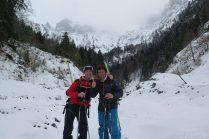 Guide ski pente raide Aravis Mont Blanc