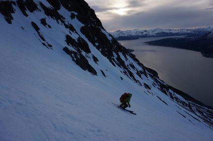 Ski au soleil de minuit-Norvége