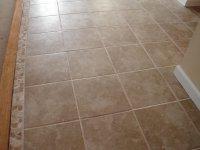 Ceramic Tile Floor w. Mosaic Trim  Edgerton, Ohio ...