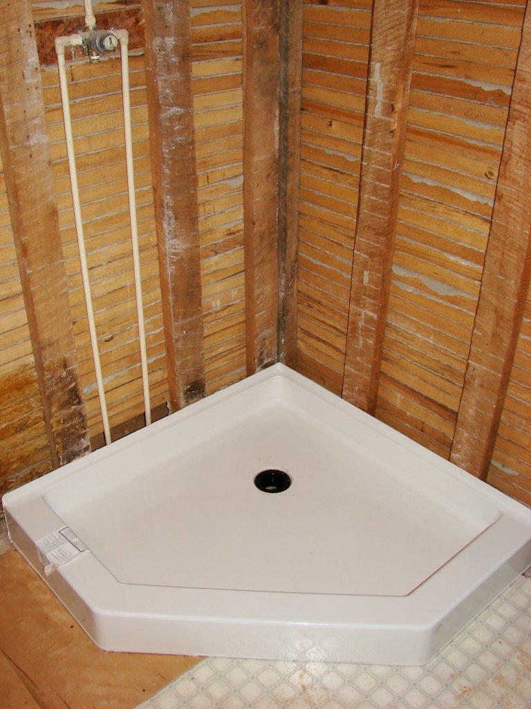 kitchen facelift ikea shaker cabinets 39″ corner shower installation – hicksville, ohio ...