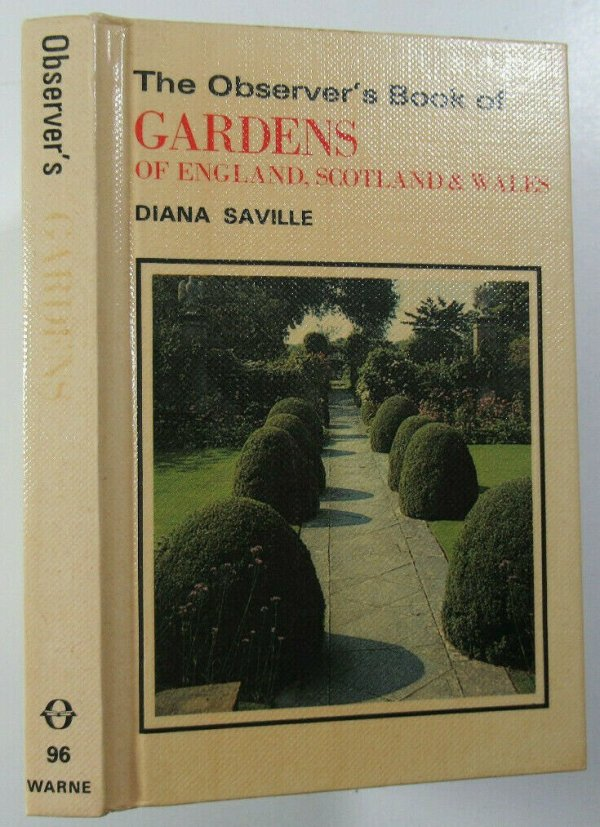 1982 The Observers Book of Gardens of England Scotland & Wales Diana Saville 1st Observer's Books 2
