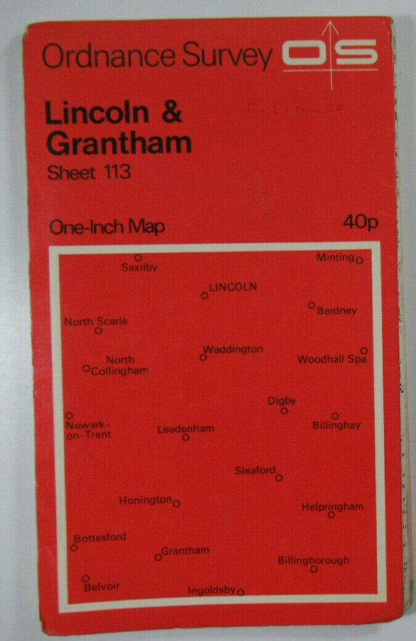 1968 OS Ordnance Survey Seventh Series One-Inch Map Sheet 113 Lincoln & Grantham OS One-Inch Seventh Series maps 2