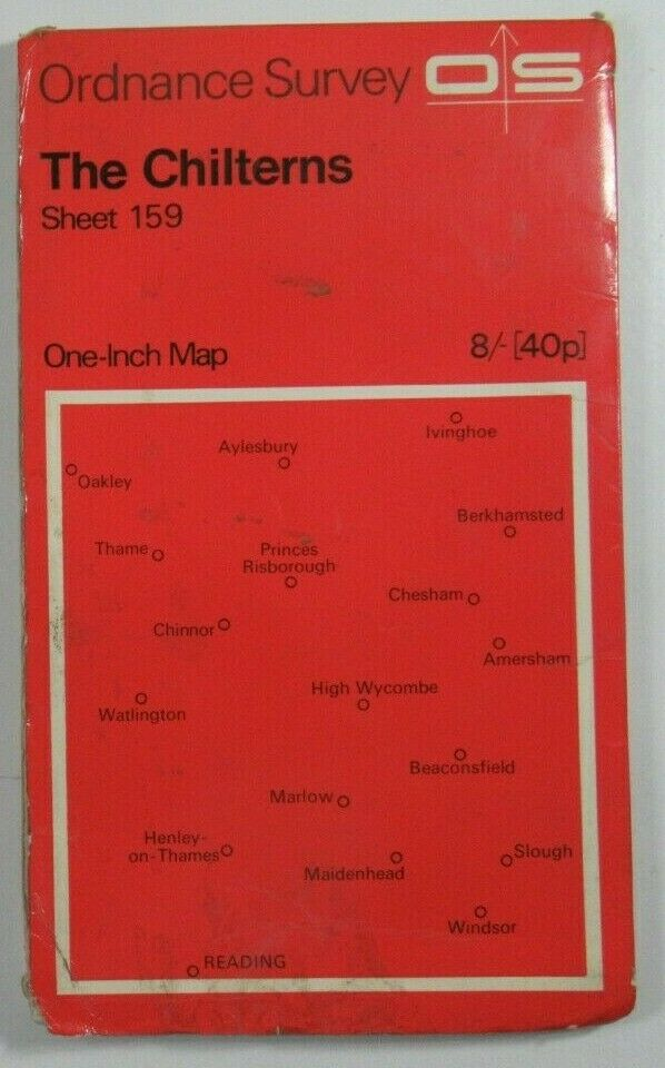 1968 Old OS Ordnance Survey One-inch Seventh Series Map 159 The Chilterns OS One-Inch Seventh Series maps 2