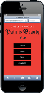 Portfolio - Chelsea Wolfe - Mobile - 2013