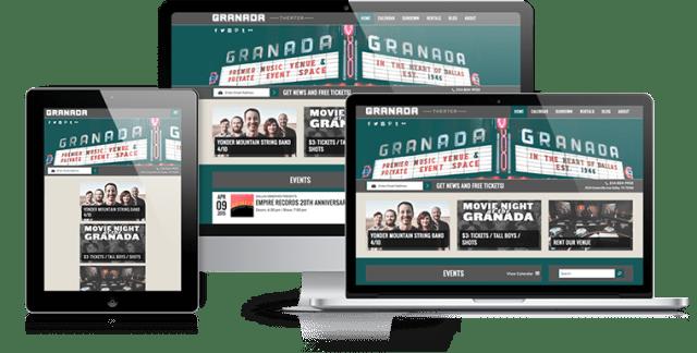 The Granada Theater - Responsive Web Design