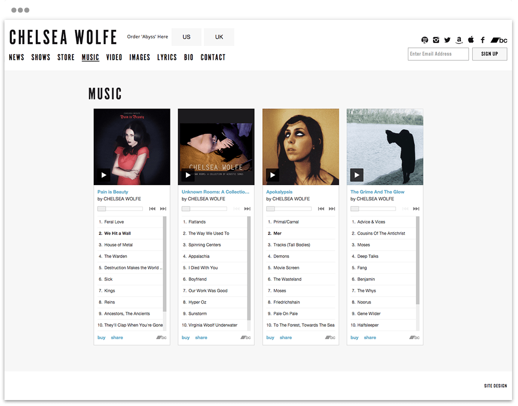 Portfolio - Chelsea Wolfe - Abyss