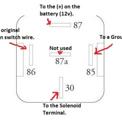 Wiring Diagram For 12 Volt Relay 2000 Vw Jetta Radio Ignition Schematic Start Data Oreo Fuse Must Do Starter Mod