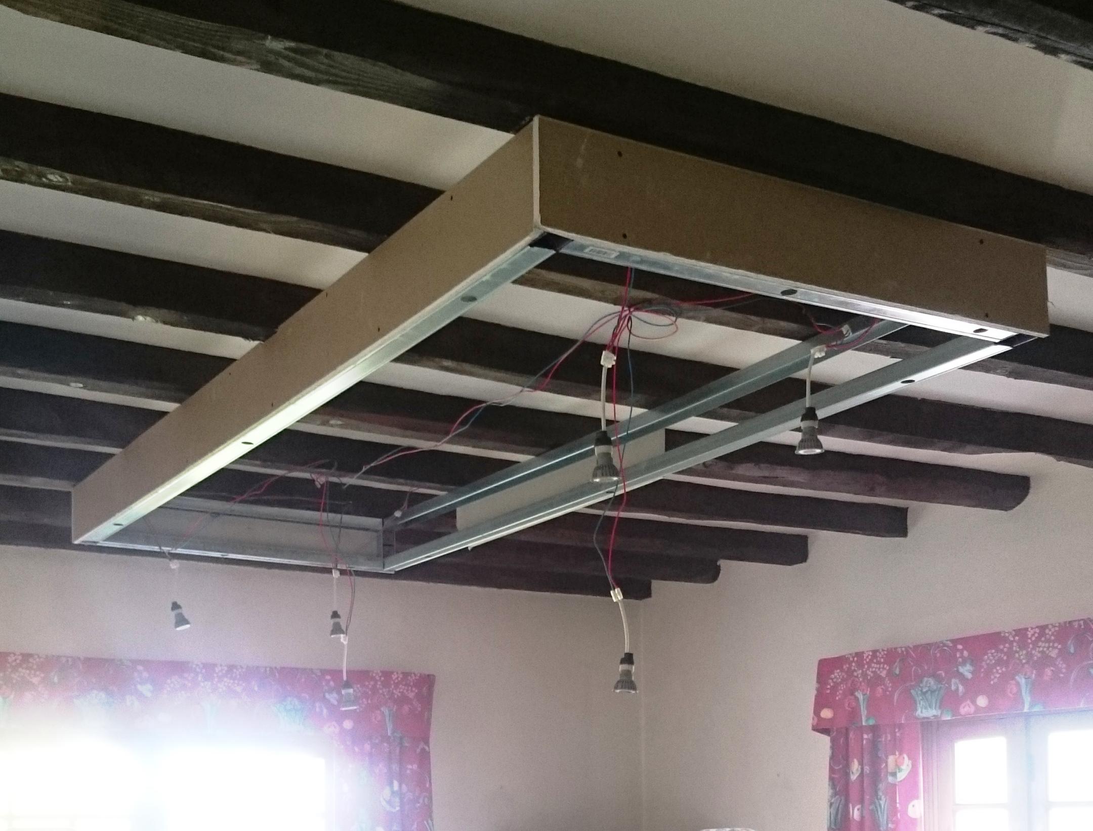 Clairage Plafond Suspendu Perfect Coffre Eclairage