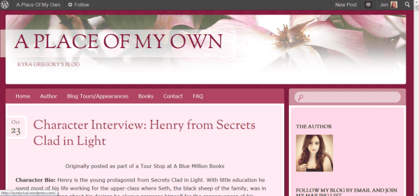 kyra gregory blog banner