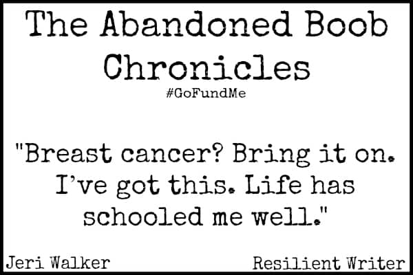 GoFundMe Breast Cancer Campaign quote