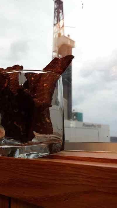 Jerky with Oil Rig