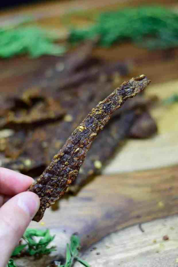 A Cajun Spiced Beef Jerky that will excite your taste buds! Easy to make jerky that's packed with protein. | Jerkyholic.com