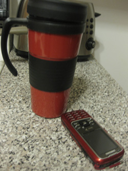 Coffee Mug and Cell Phone