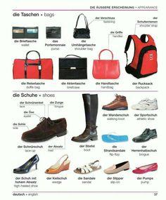 Sepatu dan Tas dalam Bahasa Jerman