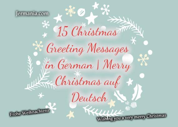15 Christmas Greeting Messages in German | Merry Christmas auf Deutsch
