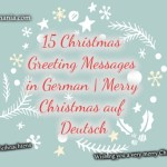 15 Christmas Greeting Messages in German | Merry Christmas auf Deutsch