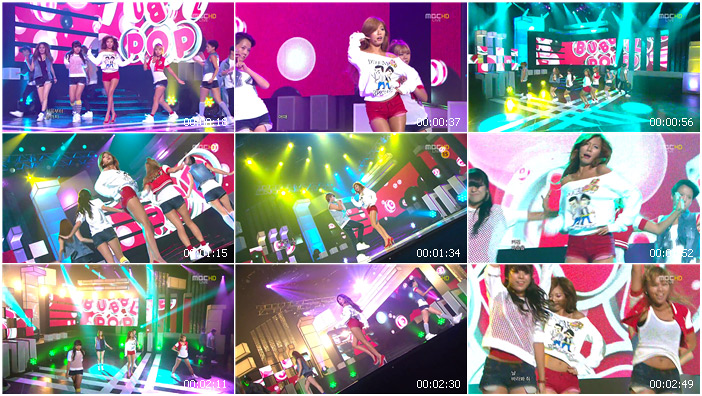 110723 MBC Music Core HyunA - Bubble Pop!