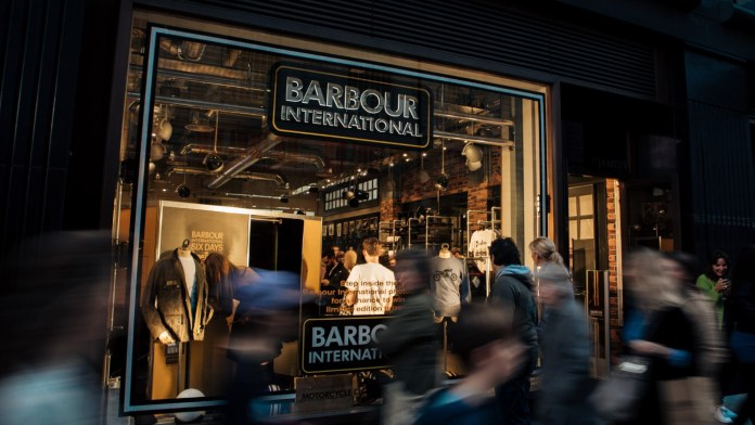 Jermyn Street: style. Barbour International Piccadilly 2