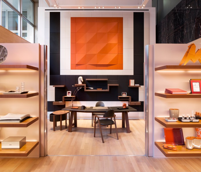 Hermes New Bond street Maison close up VIP space