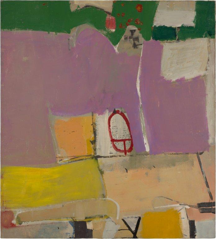 Richard Diebenkorn. Albuquerque #4, 1951. Oil on canvas, 128.9 x 116.2 cm. Saint Louis Art Museum. Gift of Joseph Pulitzer Jr. Copyright 2014 The Richard Diebenkorn Foundation